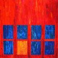 Farbk 4, Blue Balance, 100x100 cm, 450 Euro