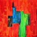 Farbk 7, Macht der Farbe, 70x80 cm, 250 Euro
